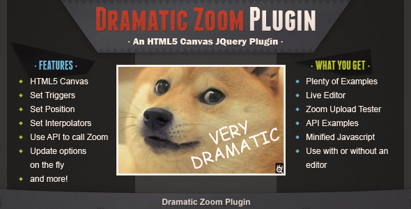 Dramatic Zoom Features
